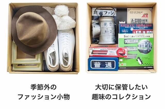 預けられる荷物のイメージ
