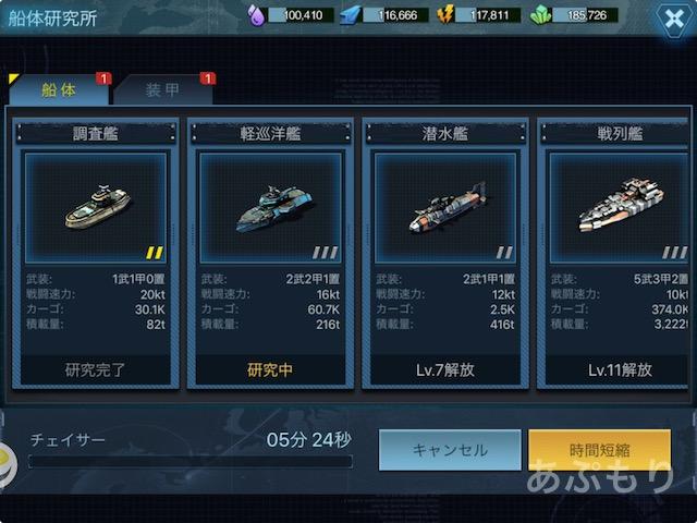 建造できる戦艦のリスト