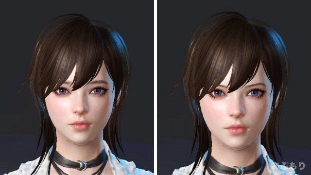 眉毛の角度変えられる