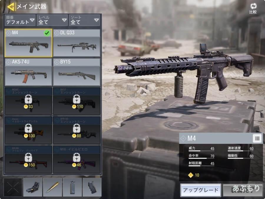 CoDモバイル メイン武器