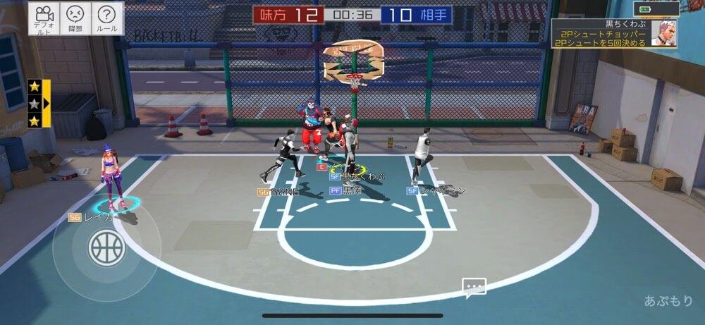 シティダンク2 ゲームプレイ画面