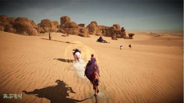 黒モバ 大砂漠イベントに向かう途中に象に遭遇