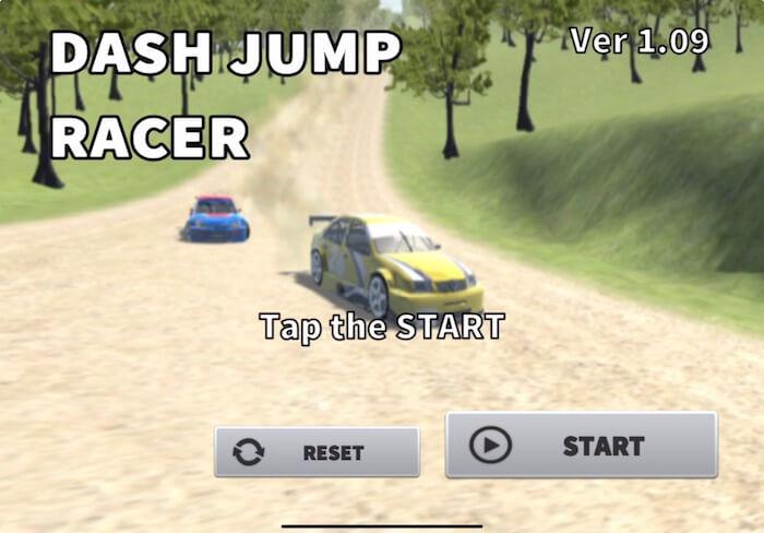 ダッシュジャンプレーサー タイトル画面