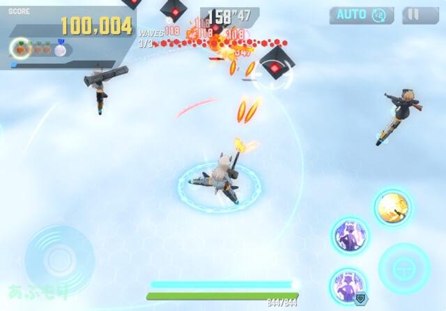 ユナフロ 戦闘画面
